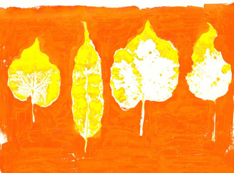 Листья осени - детская поделка