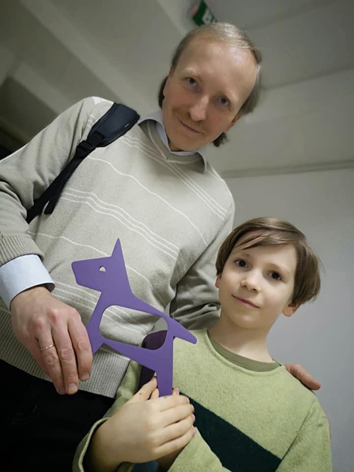 Юрий Бедрик с сыном