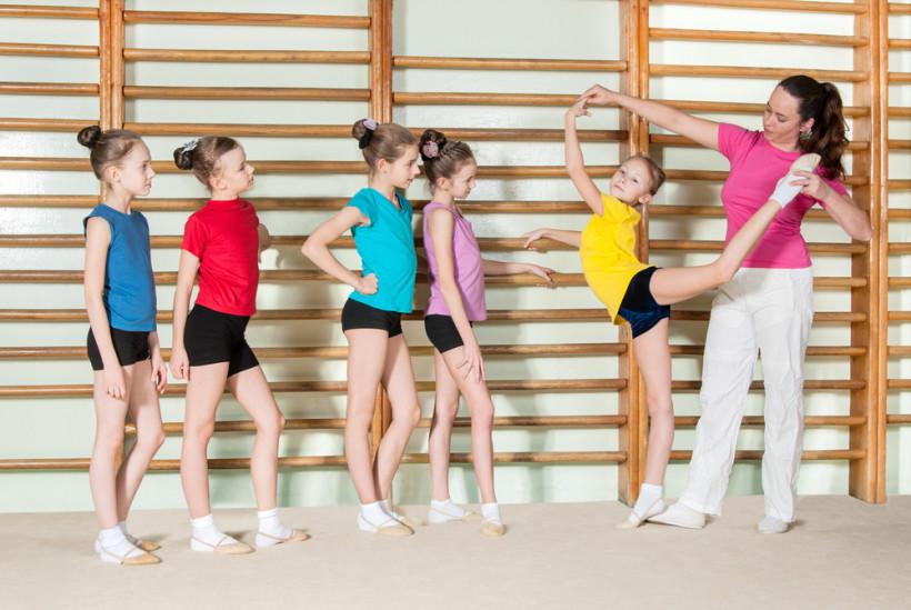 детский тренер, гимнастика