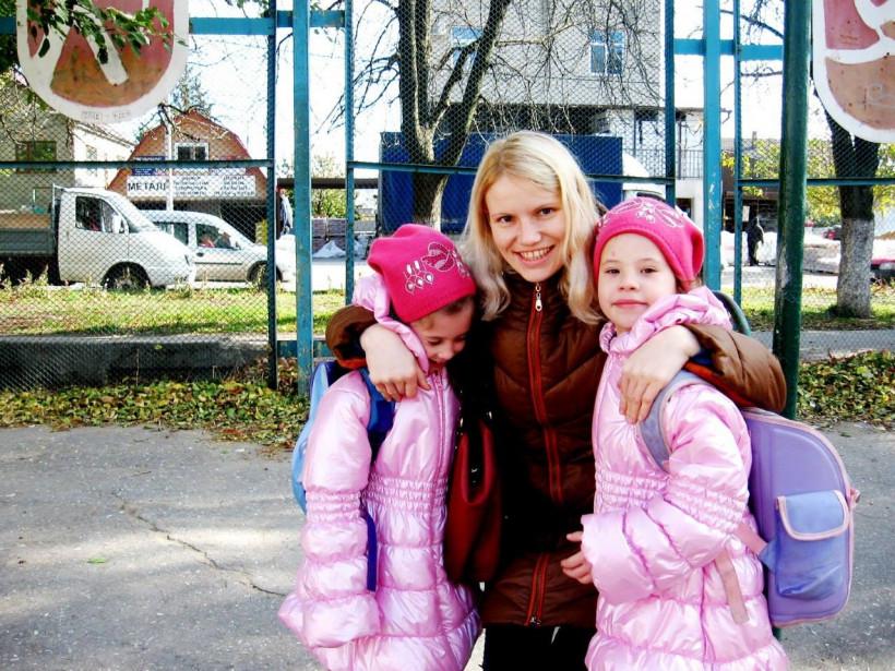 Ольга Тодусова с детьми
