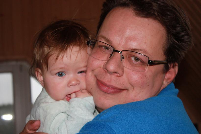 Андрей Блызнюк с дочерью  - тато року