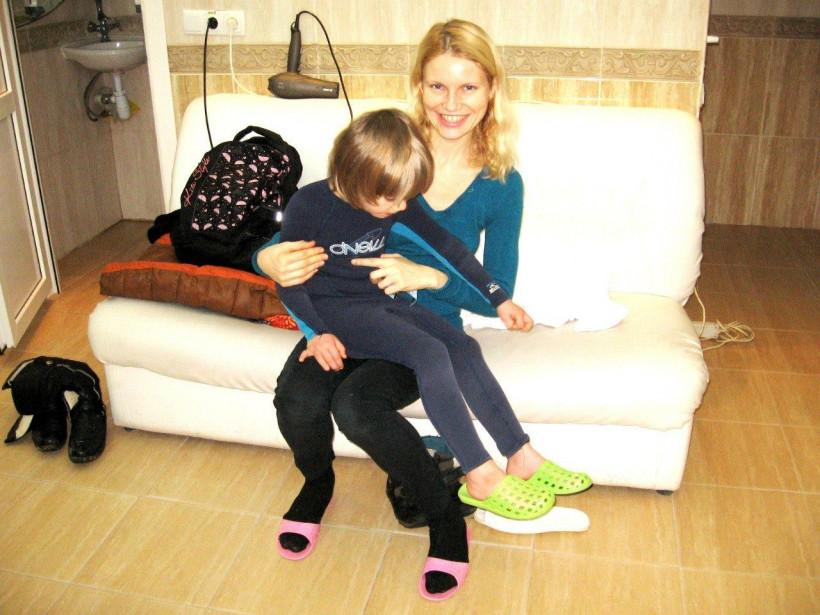 Ольга Подусова  и ее первый усыновленный сын