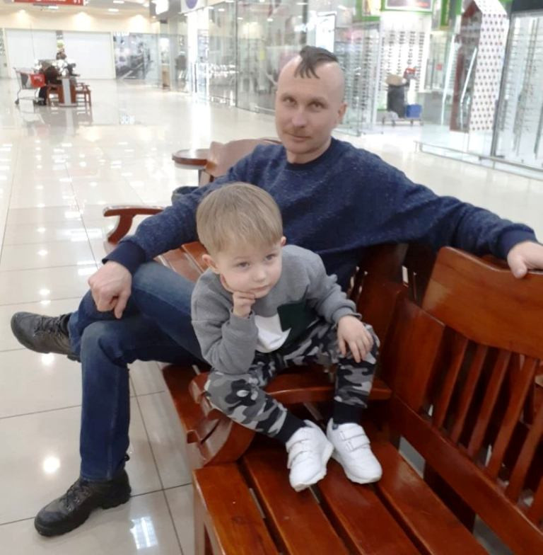 Тарас Лемешко с сыном