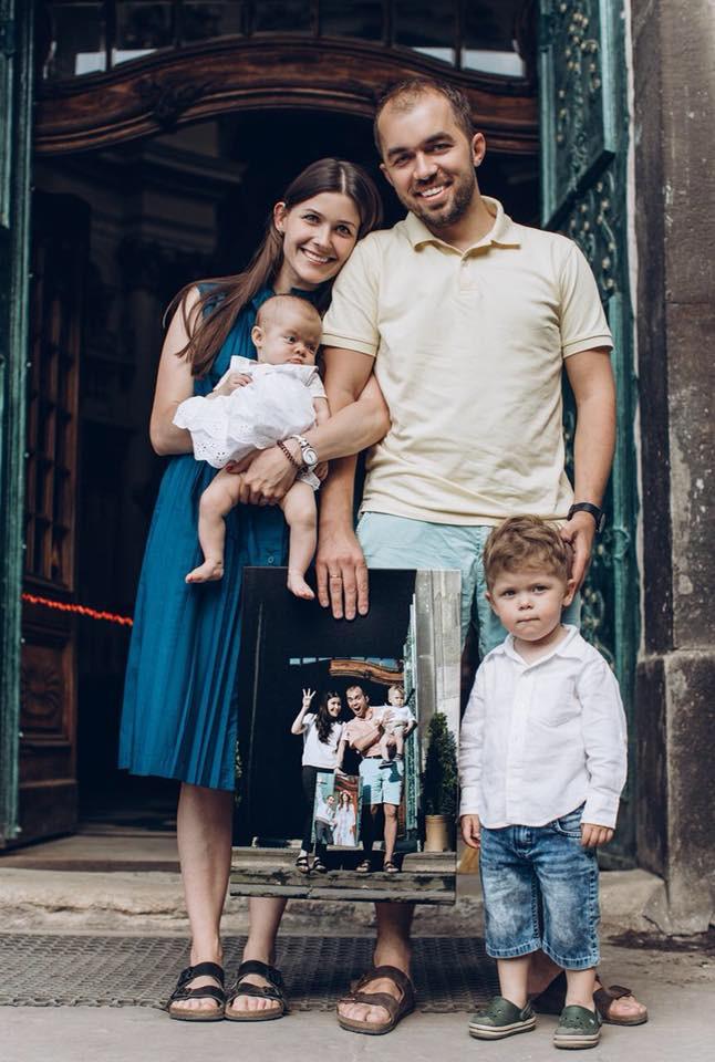 Роман Тычкивский с семьей