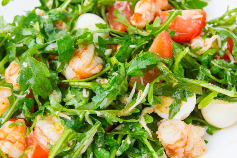 весенние салаты с рукколой