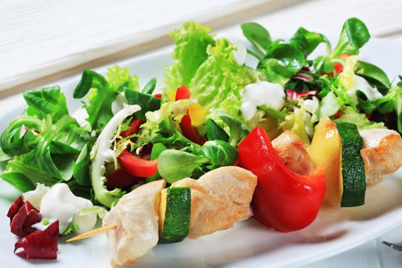весенние салаты с куриным филе
