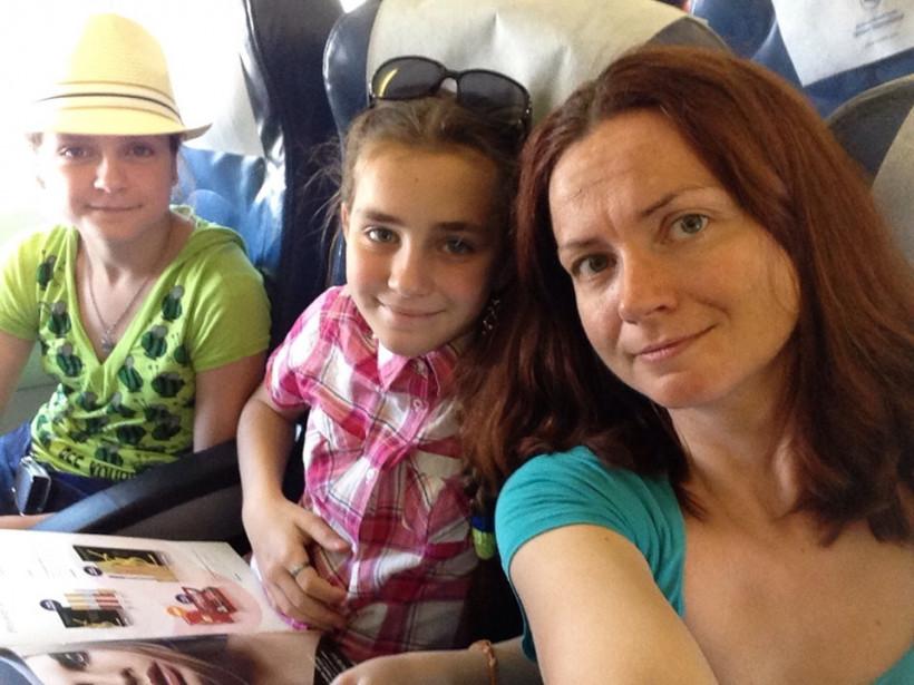 Лариса Мищанчук с детьми