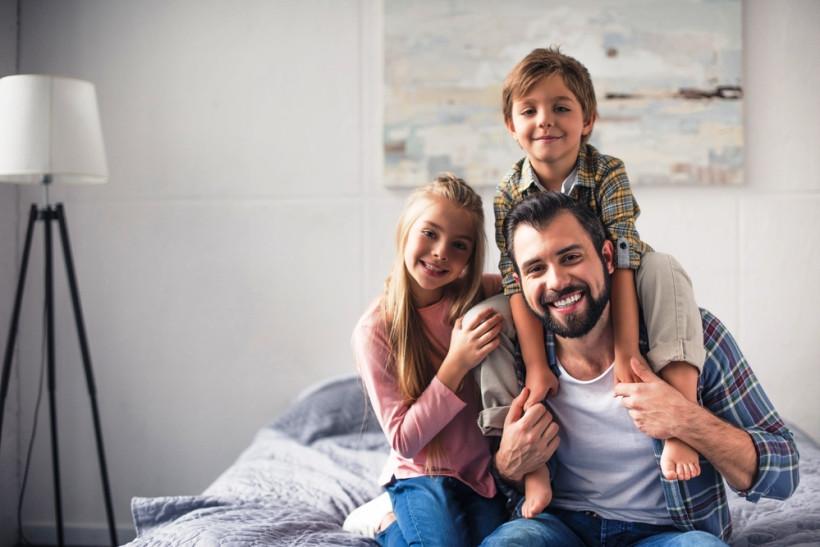 папа с детьми