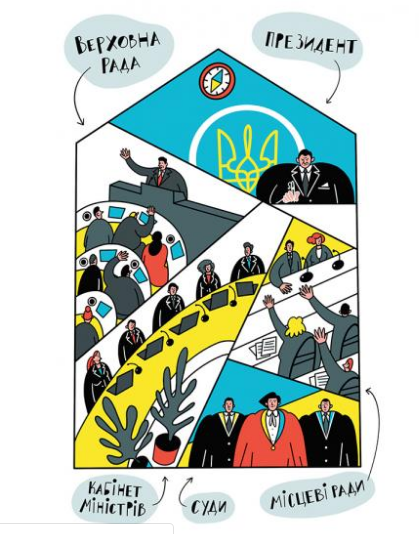Иллюстрация в книге Я і Конституція від ВСЛ
