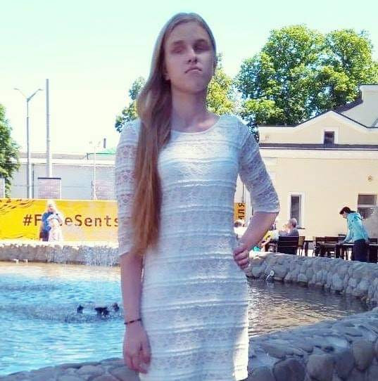 Таня Антоненко - выпускница  с нарушением зрения