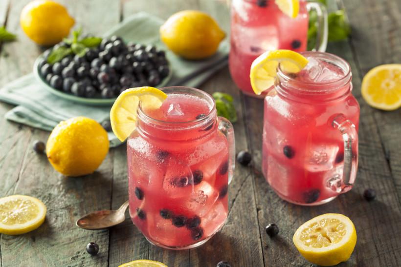 рецепты лимонада с черникой