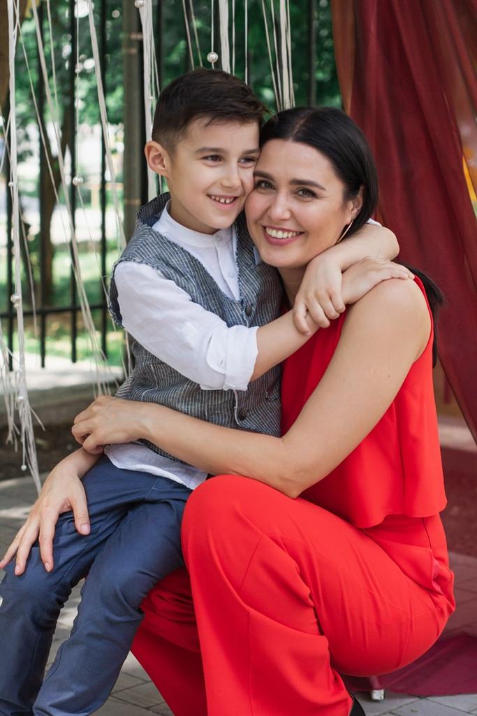 Людмила Бабир с сыном Тарасом