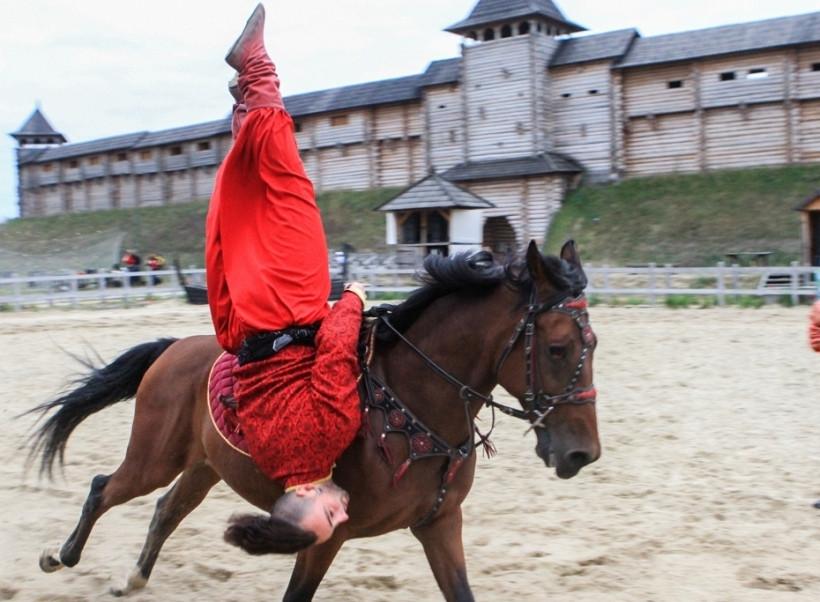 трюки на коние