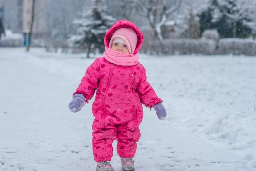 ребенок в комбинезоне зимой