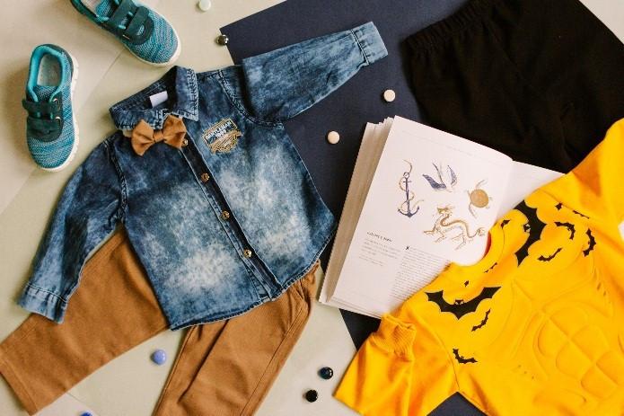 Детская джинсовая одежда на Дарынке