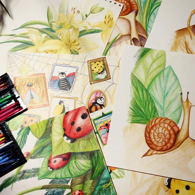 Иллюстрации к книге Оранжевая божья коровка