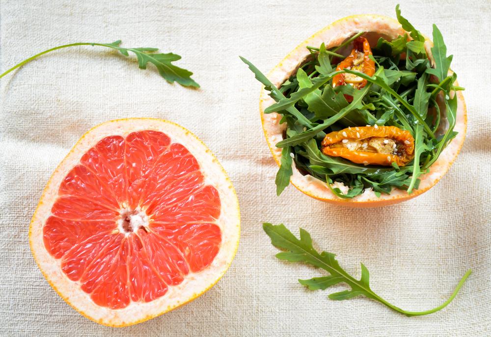 Грейпфрут и руккола