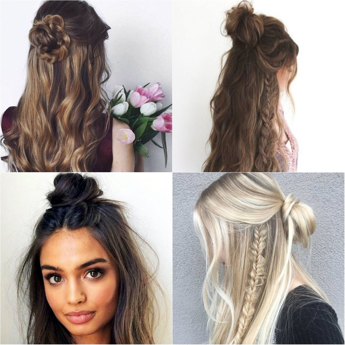 Две гульки с распущенными волосами