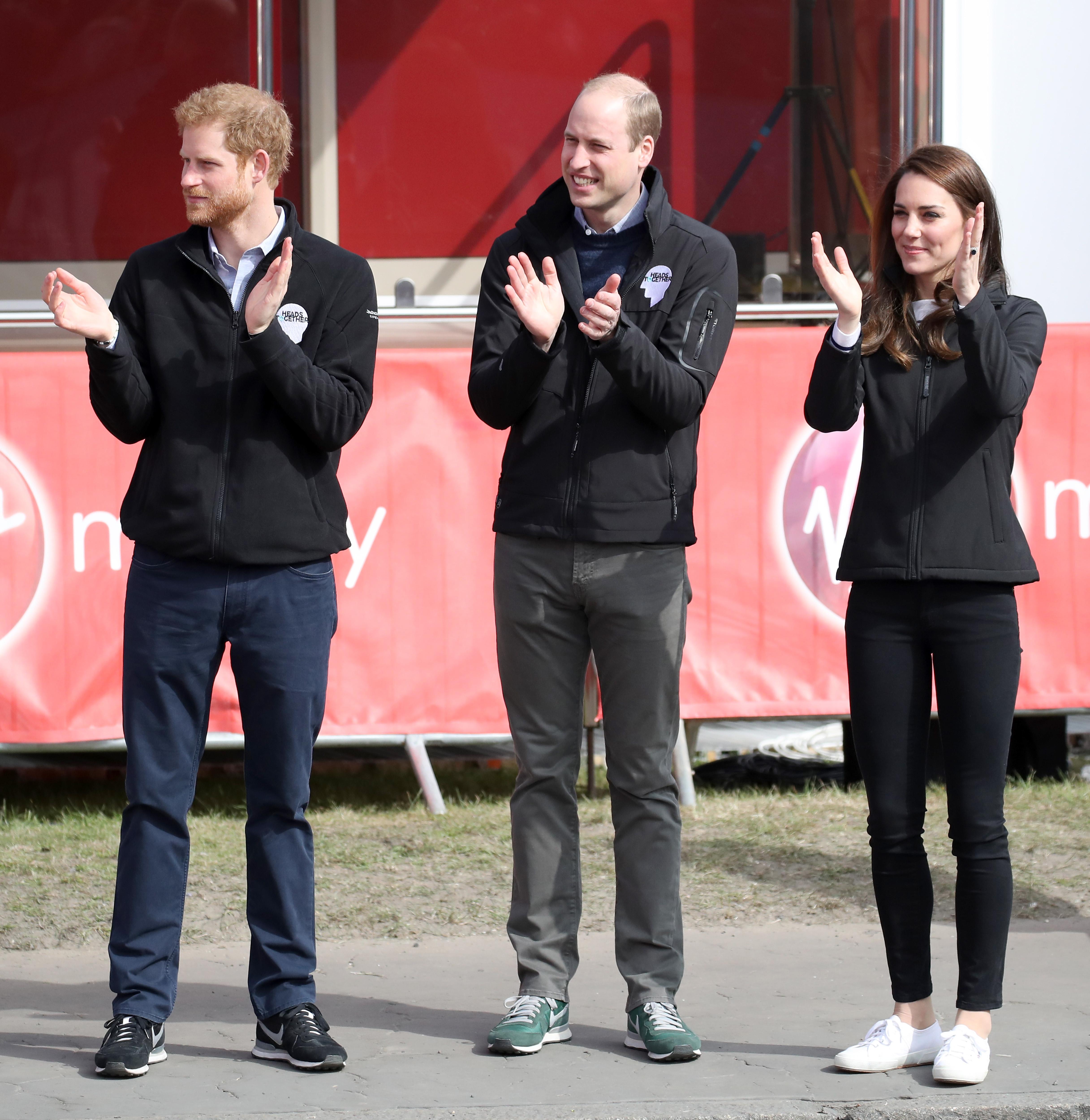 Кейт Міддлтон із принцами Уїльямом і Гаррі