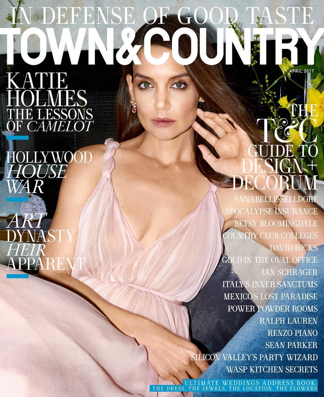 Кеті стала героїнею квітневого номера журналу Town & Country