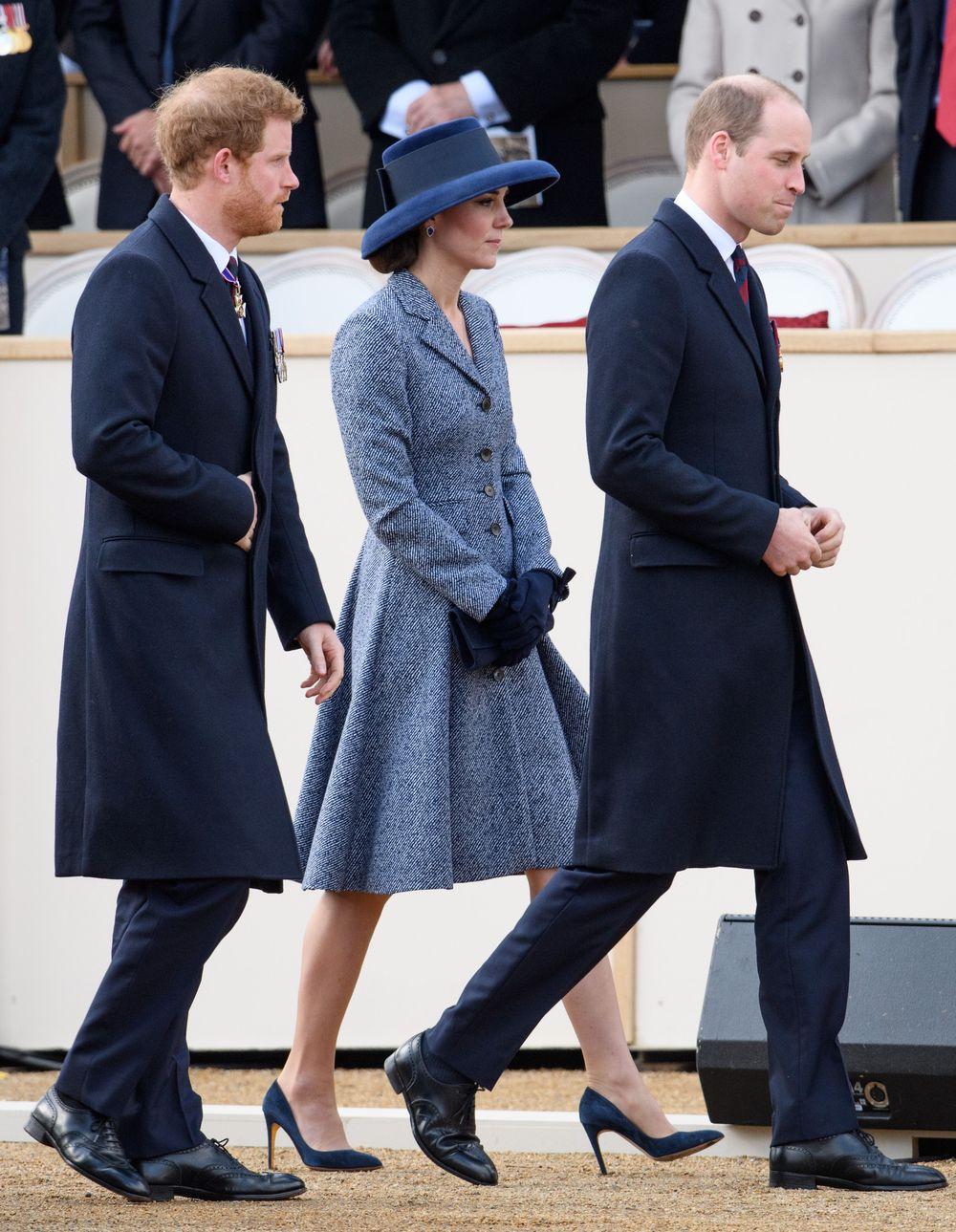 Кейт Міддлтон, принц Вільям і принц Гаррі