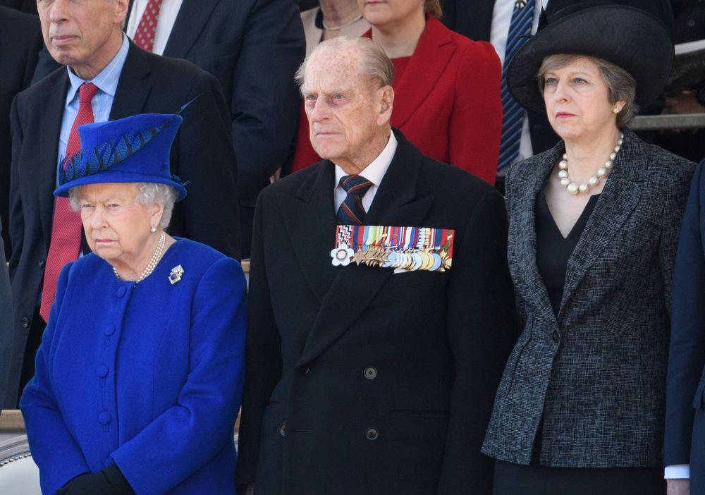 Єлизавета II, принц Філіп і прем'єр-міністр Тереза Мей
