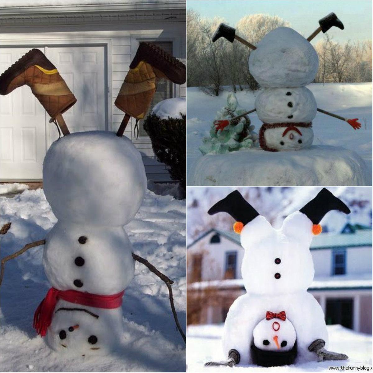 Как сделать креативный снеговик
