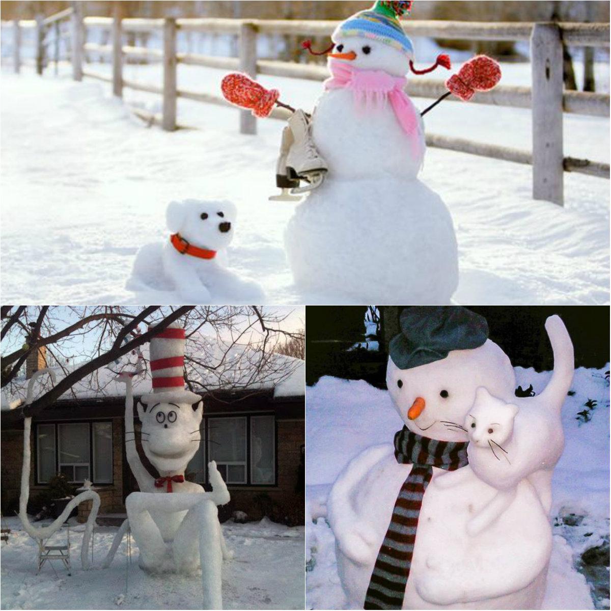 со снеговиком знакомство