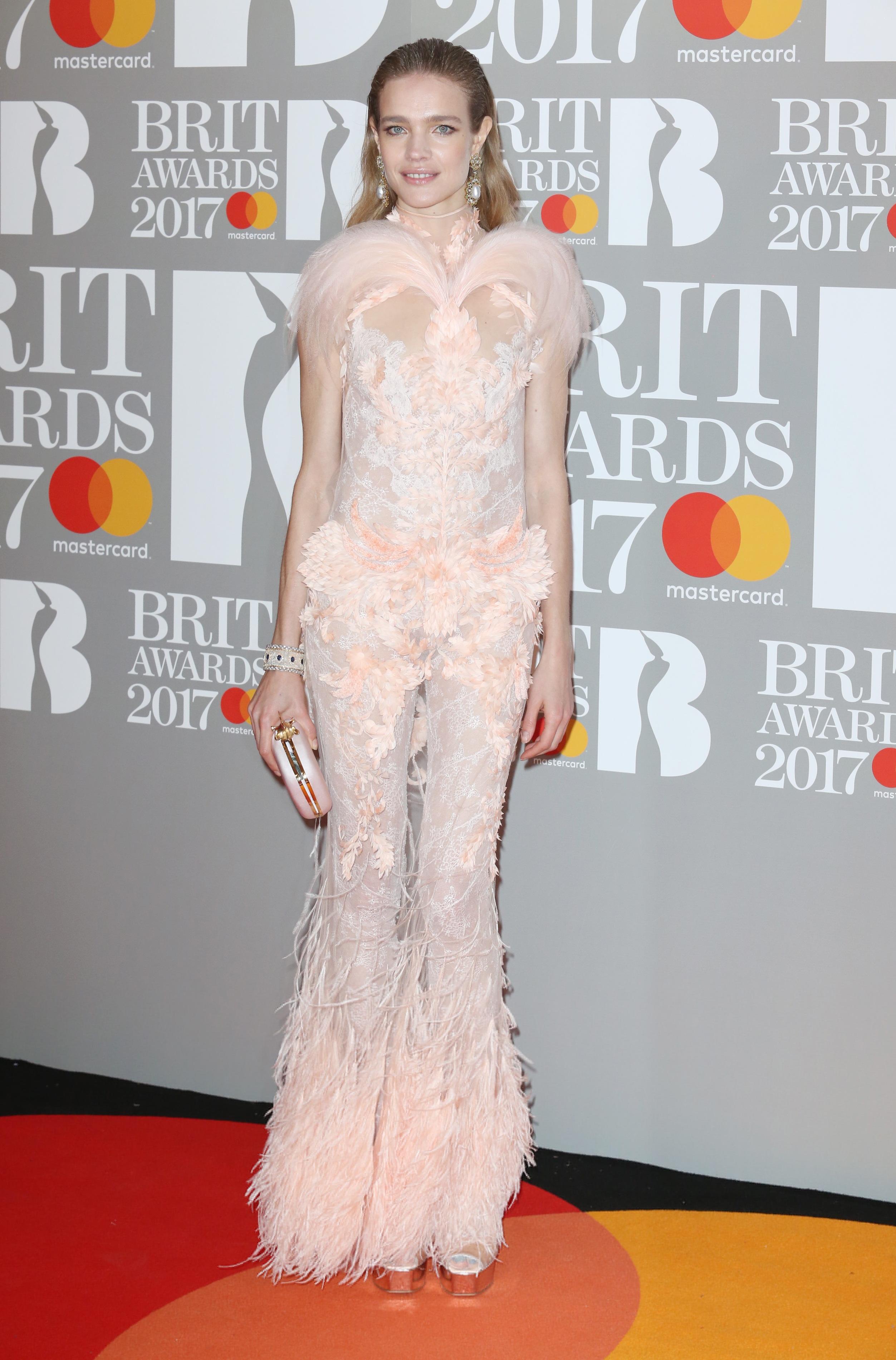 Наталя Водянова на церемонії Brit Awards-2017