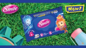 На прогулянку, в садок і в школу – з вологим папером від Smile завжди буде комфортно