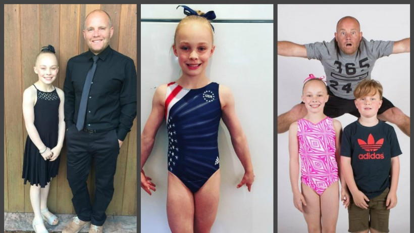 Папа и доч гемнастка