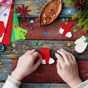 Как сделать стильную новогоднюю открытку